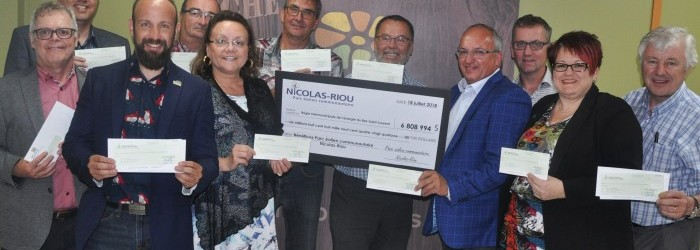 Parc éolien Nicolas-Riou : une somme de 6 808 994 $ remise aux actionnaires | Centre local de développement des Basques | Résolument partenaire
