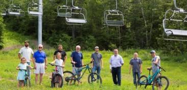 Un projet de 3 M $ pour le vélo de montagne au Mont-Saint-Mathieu | Centre local de développement des Basques | Résolument partenaire